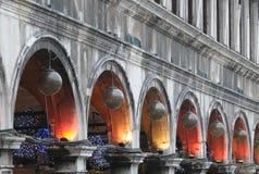 Ornamenti di natale a Venezia Fotografie Stock Libere da Diritti