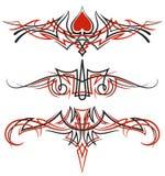 Ornamenti di Pinstriping messi illustrazione di stock