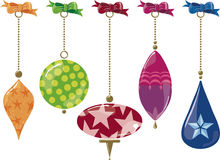 Ornamenti di vetro Fotografia Stock Libera da Diritti