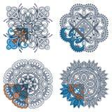 Ornamenti di vettore per colorare Fotografie Stock Libere da Diritti