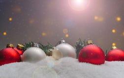 Ornamenti differenti di natale Fotografia Stock