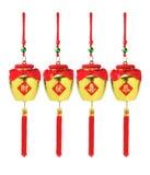 Ornamenti dorati dei vasi del nuovo anno cinese Fotografia Stock Libera da Diritti
