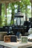Ornamenti e lampada del giardino Fotografia Stock Libera da Diritti