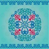 Ornamenti e modelli asiatici kazaki stabiliti Fotografia Stock Libera da Diritti