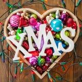 Ornamenti festivi di natale Fotografie Stock