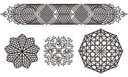 Ornamenti a filigrana illustrazione vettoriale
