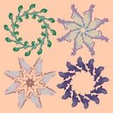 Ornamenti floreali delicati illustrazione di stock