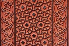 Ornamenti floreali in Fatekhpur Sikri Immagini Stock