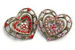 Ornamenti a forma di 07 dei capelli del cuore Fotografia Stock