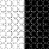 Ornamenti geometrici in bianco e nero Insieme dei reticoli senza giunte Fotografia Stock