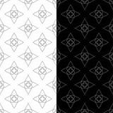 Ornamenti geometrici in bianco e nero Insieme dei reticoli senza giunte Fotografia Stock Libera da Diritti