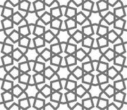 Ornamenti geometrici di vettore islamico, arte araba tradizionale Reticolo senza giunte orientale Mattonelle turche, arabe, maroc royalty illustrazione gratis
