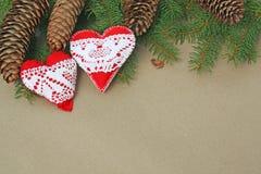 Ornamenti Handmade del cuore Immagine Stock Libera da Diritti