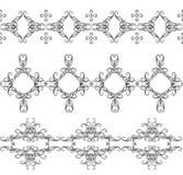 Ornamenti intrecciati monocromatici royalty illustrazione gratis