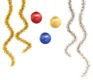 Ornamenti isolati di natale Immagine Stock