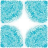 Ornamenti marocchini delle mattonelle nei colori blu e bianchi Immagini Stock Libere da Diritti