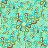 Ornamenti marocchini delle mattonelle nei colori blu e verdi Fotografia Stock