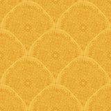 Ornamenti nei colori dell'oro Reticolo senza giunte della carta da parati Immagine Stock Libera da Diritti
