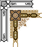 Ornamenti per rilegatura illustrazione di stock