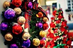 Ornamenti scintillanti di natale Fotografia Stock