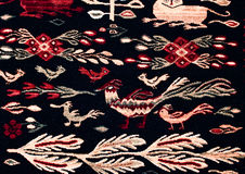 Ornamenti senza cuciture pieghi rumeni del modello Ricamo tradizionale rumeno Disegno etnico di struttura Progettazione tradizion Fotografia Stock Libera da Diritti