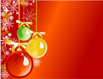 Ornamenti su colore rosso Fotografie Stock