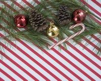 Ornamenti sulle bande del bastoncino di zucchero Immagini Stock Libere da Diritti