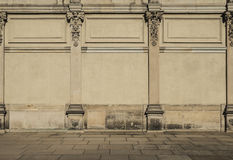 Ornamentic stone wall facade Royalty Free Stock Images