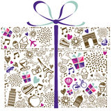 Ornamentical礼物盒 库存例证