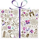 Ornamentical Gift Box Stock Photos