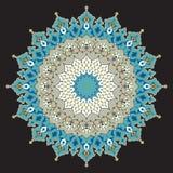 Ornamento árabe dois de Taza Foto de Stock Royalty Free