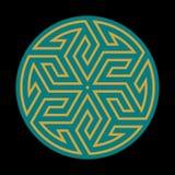 Ornamento árabe dos de Bahtiyar Imagen de archivo libre de regalías