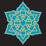 Ornamento árabe seis de Bonab Imagen de archivo libre de regalías