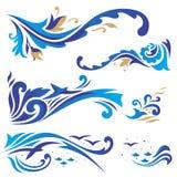 Ornamento árabes com ondas Foto de Stock Royalty Free