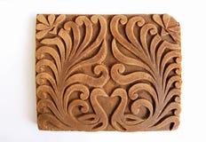 Ornamento étnico del jardín del pavo real Foto de archivo libre de regalías