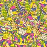Ornamento étnico del mehndi del Tracery Adorno que calma discreto indiferente, diseño armonioso colorido que garabatea usable Vec ilustración del vector