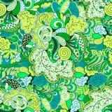 Ornamento étnico del mehndi del Tracery Adorno que calma discreto indiferente, diseño armonioso colorido que garabatea usable Vec Foto de archivo libre de regalías