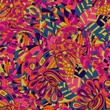 Ornamento étnico del mehndi del Tracery Adorno que calma discreto indiferente, diseño armonioso colorido que garabatea usable Vec Imagen de archivo