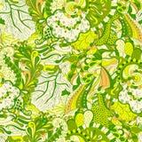 Ornamento étnico del mehndi del Tracery Adorno que calma discreto indiferente, diseño armonioso colorido que garabatea usable Vec Imagen de archivo libre de regalías