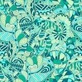 Ornamento étnico del mehndi del Tracery Adorno que calma discreto indiferente, diseño armonioso colorido que garabatea usable Vec Fotografía de archivo libre de regalías