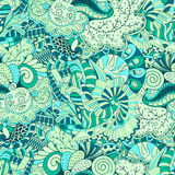 Ornamento étnico del mehndi del Tracery Adorno que calma discreto indiferente, diseño armonioso colorido que garabatea usable Vec Fotos de archivo libres de regalías