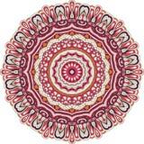 Ornamento étnico do mehndi do Tracery Motivo de acalmação discreto indiferente, projeto harmonioso colorido rabiscando útil Vetor Fotos de Stock