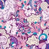 Ornamento étnico do mehndi do Tracery Motivo de acalmação discreto indiferente, projeto harmonioso colorido rabiscando útil Vetor Fotos de Stock Royalty Free