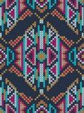 Ornamento étnico do ponto de cruz Imagens de Stock Royalty Free