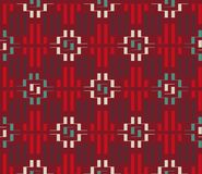 Ornamento étnico dos retângulos Fotografia de Stock