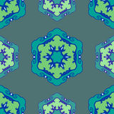 Ornamento étnico inconsútil azul Imágenes de archivo libres de regalías