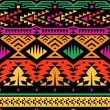 Ornamento étnico sem emenda Fundo à moda do vetor para o projeto de matéria têxtil ilustração do vetor