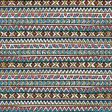 Ornamento étnico sem emenda Teste padrão geométrico Fotos de Stock