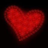 Ornamento 04 del cuore Fotografia Stock Libera da Diritti