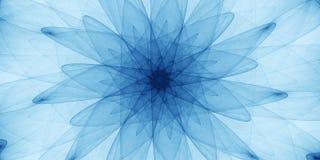 Ornamento abstracto azul imagen de archivo